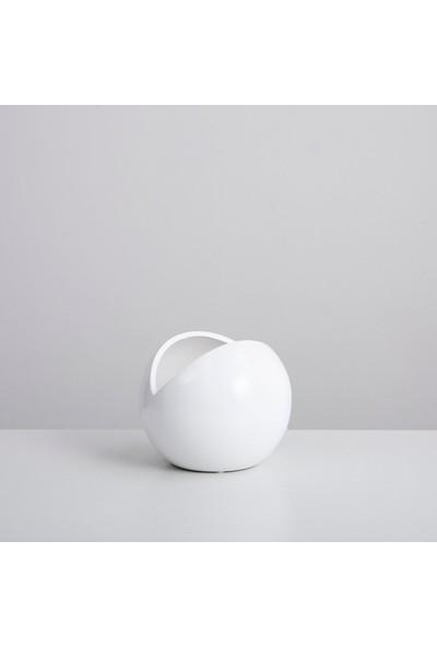 Chakra Smıle Saksı S 14,8x14,8x11,5 cm Beyaz