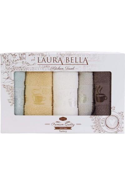 Laura Bella Coffee Mutfak Havlusu Kutulu 5'li Paket