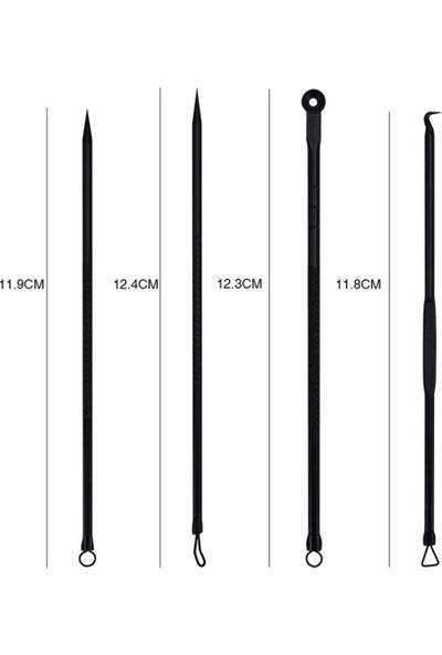 Aydın Akne-Siyah Nokta Temizleyici 4'lü Set Paslanmaz Çelik Komedon
