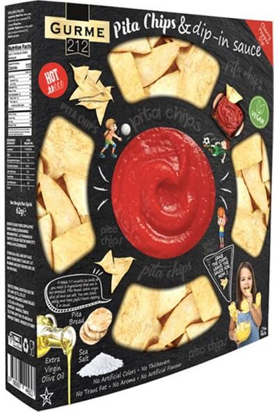 Gurme212 Pita Chips Acılı Bandırmalık Sos 242 gr