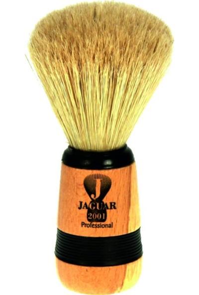 Jaguar 2001 Profesyonel Sakal Tıraş - Traş Fırçası Siyah - Krom Saplı - Kuaför Salonları Için