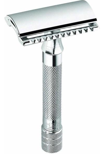 Merkur Solingen 33 C Emniyetli Tıraş Makinesi Klasik Geleneksel Tıraş Krom