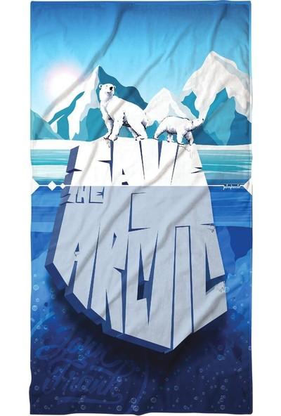 John Frank - Plaj Havlusu Arctic Beach Towel