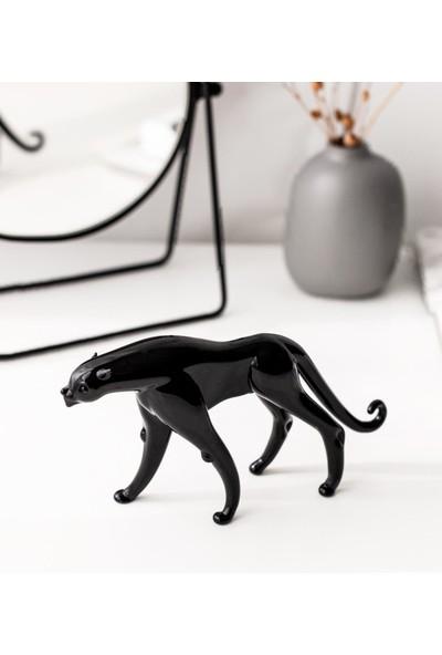 1200 Derece Jaguar – El Yapımı Cam Biblo