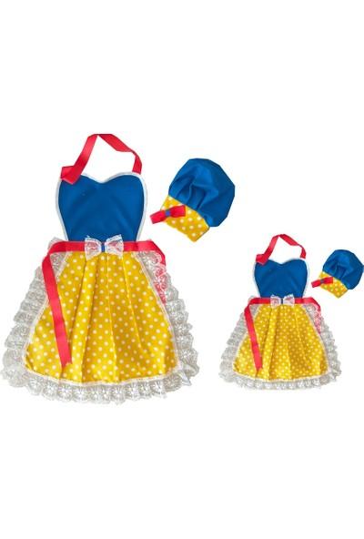 Duck Anne Çocuk Mutfak Aşçı Önlüğü ve Şapkası 1 - 2 Yaş