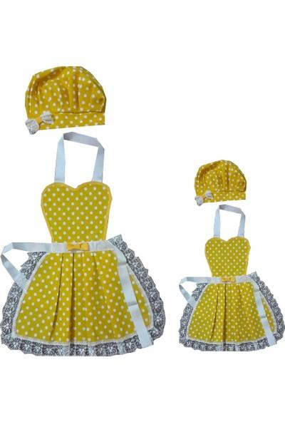 Duck Anne Çocuk Şapkalı Mutfak Önlüğü Aşçı Önlüğü 1 - 2 Yaş