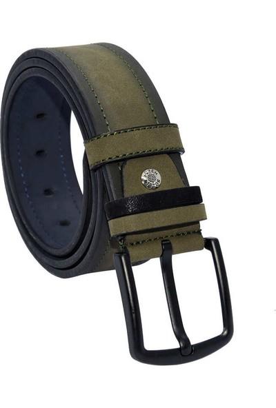 Süzer Kahverengi Süet Suni Deri 4.5 cm Spor Kemer - 4510-10