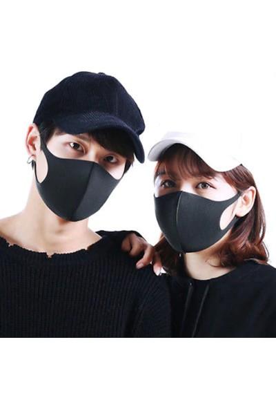Alışveriş Burada Yıkanabilir Nano Bez Maske 5 Adet - Siyah