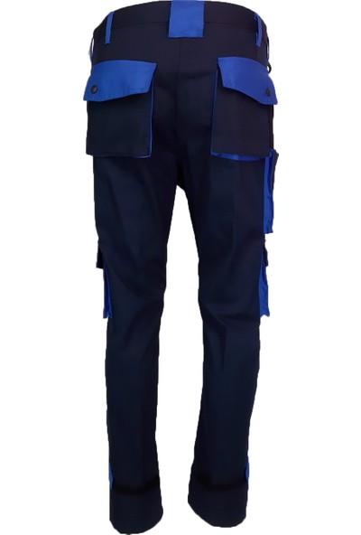 Simgeden İş Elbiseleri Bym İş Pantolonu Lacivert - Saks Mavisi 40