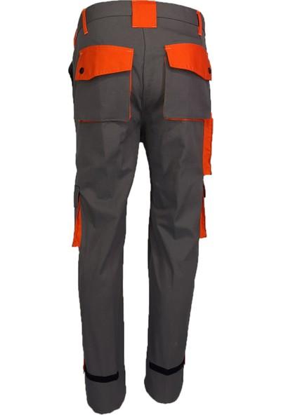 Simgeden İş Elbiseleri Bym İş Pantolonu Gri - Turuncu 38