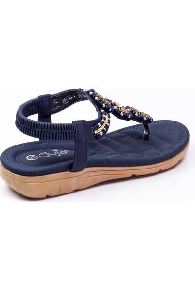 Guja 150 - 7 Parmak Arası Kadın Sandalet Lacivert