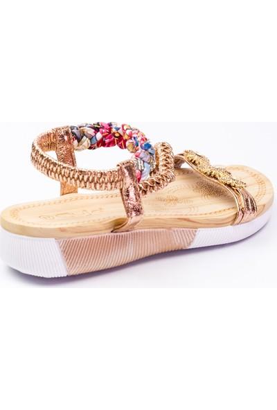 Guja 232 - 8 Kadın Sandalet Altın