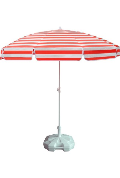 Ods Çizgili Plaj Şemsiyesi 20 lt Bidonlu
