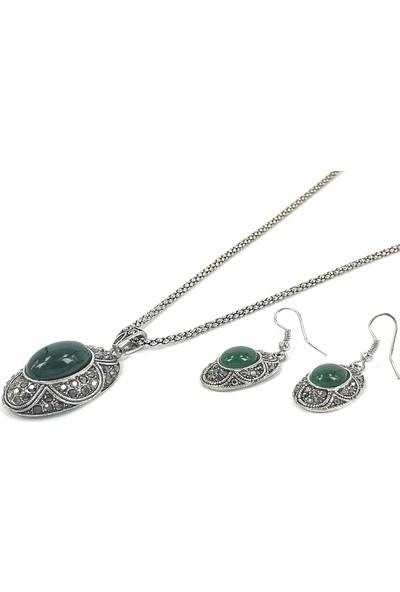 Aphrodite Accessories Osmanlı Tarzı Kolye Küpe Set
