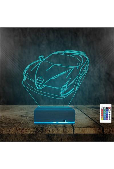 Algelsin Gece Lambası 3D 3 Boyutlu Araba Tasarımlı Masa Lambası