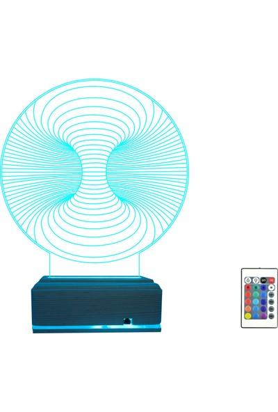 Algelsin Gece Lambası 3D 3 Boyutlu Geometrik Tasarımlı Masa Lambası