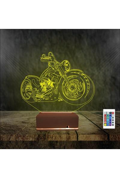 Algelsin Gece Lambası 3D 3 Boyutlu Motosiklet Tasarımlı Led Masa Lambası
