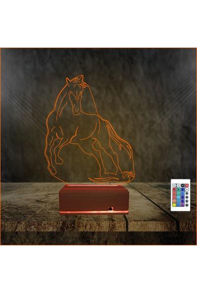 Algelsin Gece Lambası 3D 3 Boyutlu At Tasarımlı Masa Lambası