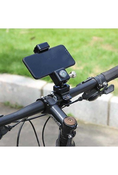 Alfatronx Motorsiklet Bisiklet Telefon Tutucu Pusulalı Tutacağı (4-6 Inç Uyumlu)