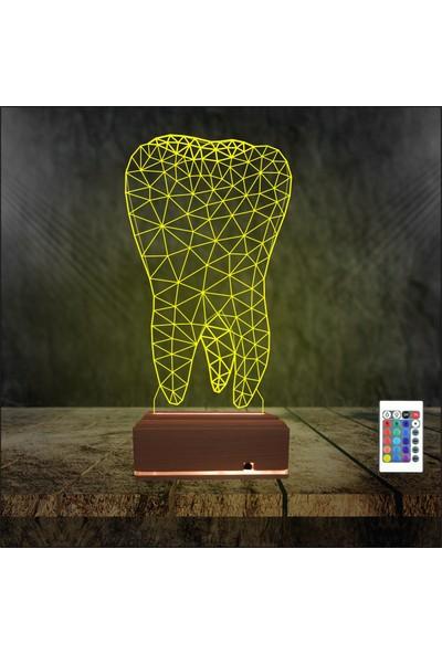 Algelsin Gece Lambası 3D Led Diş Hekimlerine Özel Masa Lambası
