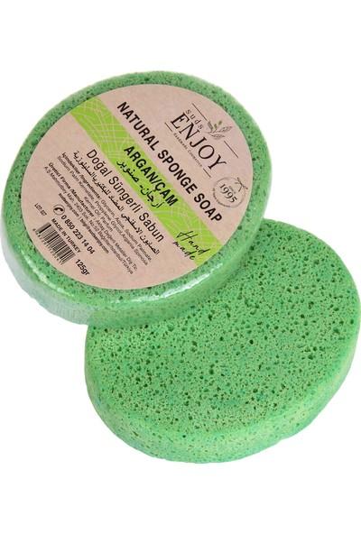 Suds Enjoy Doğal Sabun Argan & Çam El Yapımı Süngerli Vücut Duş Sabunu 125 gr