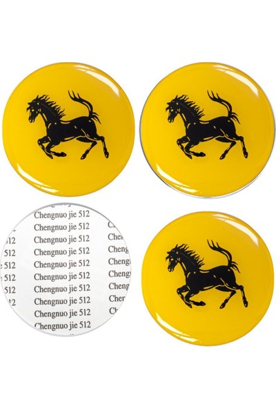 Carmaniaks Ferrari Jant Göbeği Göbek Arması Sticker 4'lü Set Carmaniaks CRME0511