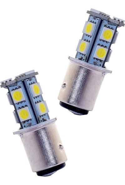 Carmaniaks Çift Duy 1157 Beyaz Sinyal Stop LED Ampulü Carmaniaks CRME0059