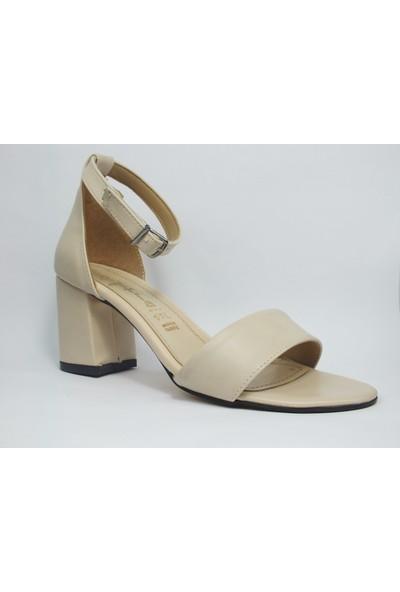 Tria Krem Tek Bant Kadın Ayakkabı 06040136