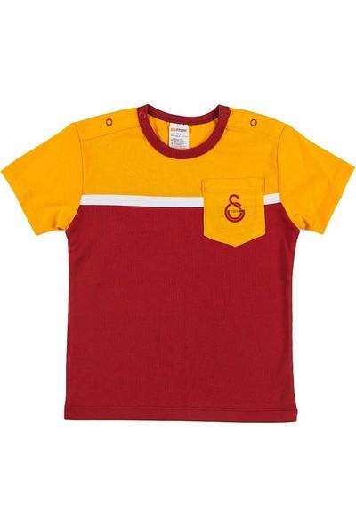 Galatasaray Bebek Tişört Sarı - Kırmızı