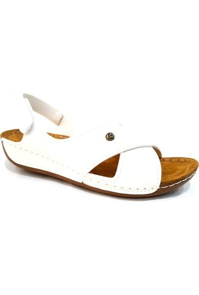 Pierre Cardin 6171 Kadın Deri Sandalet