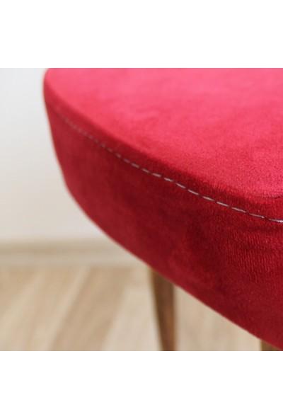 Arasta Life Style Ece Uzun Bacaklı Kalp Puf Tabure
