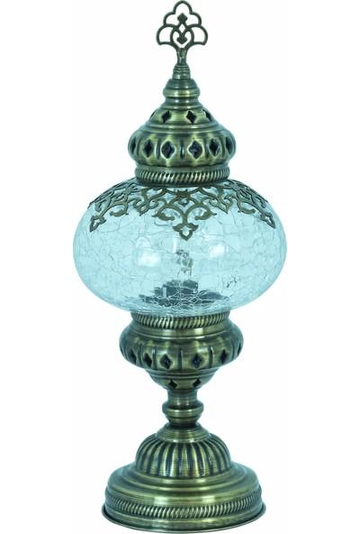 Atölye Lamp Design Otantik Osmanlı Dizayn Masa Lambası Çatlak Desenli