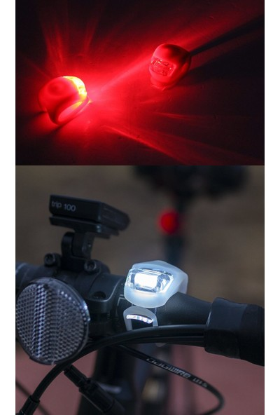 Modacar Kırmızı Beyaz Mini Ledli Bisiklet Lambası 428543