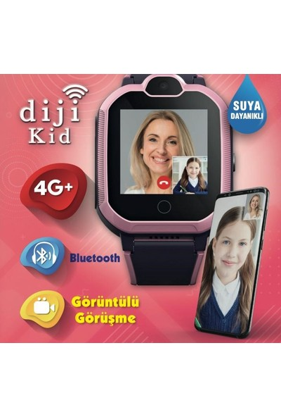 Dijikid 4G Akıllı Saat - Pembe