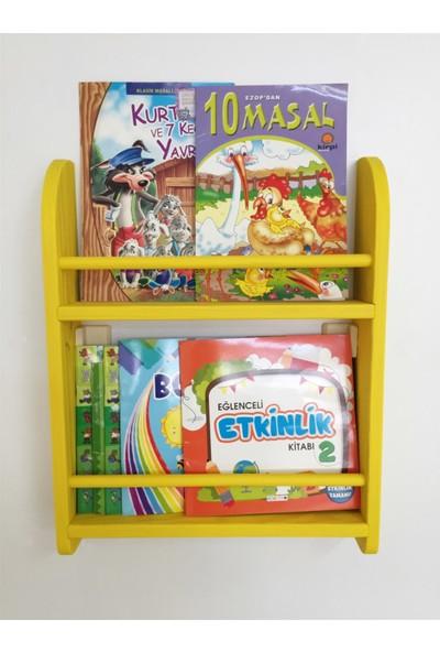 Şahin Mobilya Çocuk Odası Ahşap Montessori Kitaplık 2 Raflı 50 x 40 cm