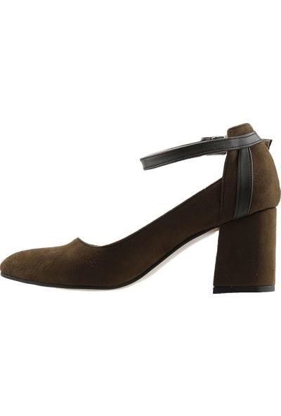 Ayakland 111012-1116 7 cm Topuk Kadın Süet Ayakkabı