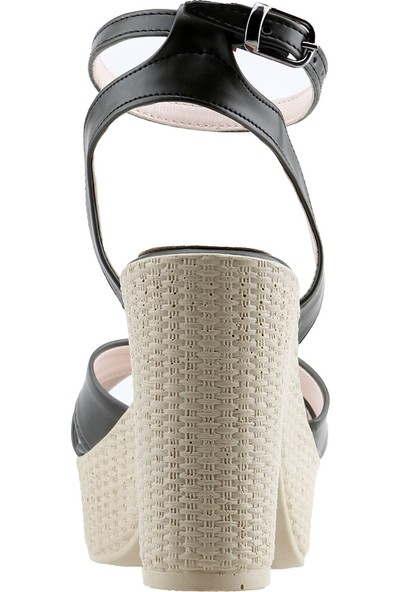 Ayakland 15136-1184 10 cm Topuk Kadın Cilt Sandalet