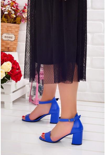 Ayakland 2013-05 Cilt 7 cm Topuk Kadın Sandalet