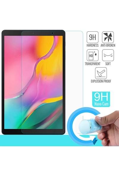 """Essleena Samsung Galaxy Tab A SM-T510/T515/T517 10.1"""" 330 Derece Bükülebilen Nano Ekran Koruyucu Cam"""