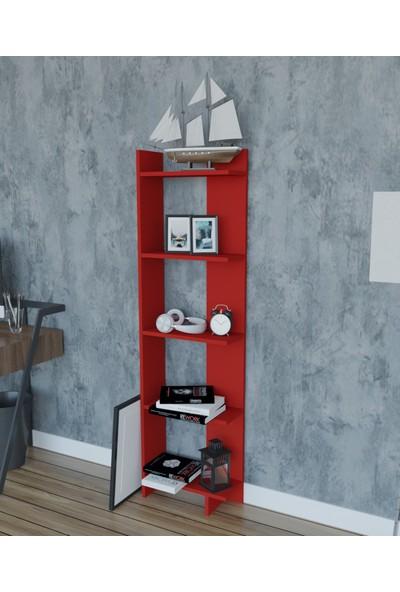 Moonlife Basic Dekoratif Kitaplık Kırmızı