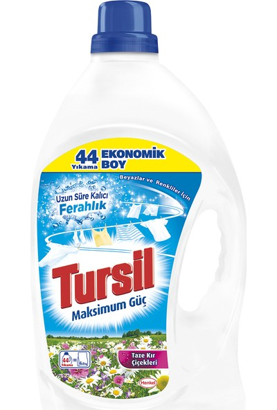 Tursil Jel Sıvı Çamaşır Deterjanı 44 Yıkama Kır Çiçekleri