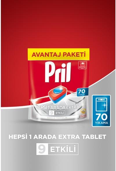 Pril Hepsi Bir Arada Extra Tablet Bulaşık Makinesi Deterjanı 70 Yıkama