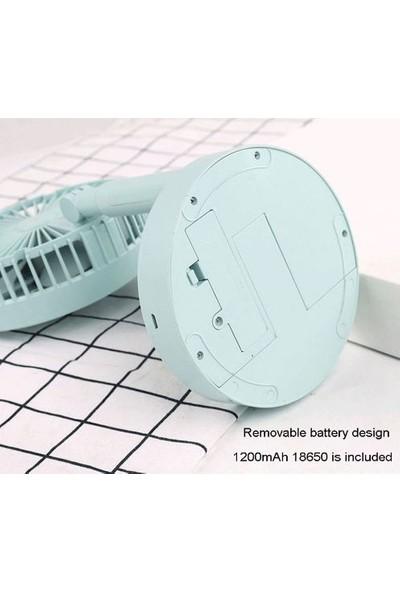 CoverZone Mini Portatif Masaüstü ve Taşınabilir Kademeli Ayarlanabilir Şarjlı Vantilatör Beyaz