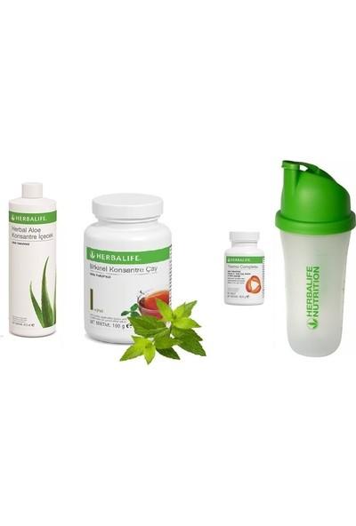 Herbalife Set Aloe Suyu - Klasik 100 gr Çay - Thermo Complete ve Shaker