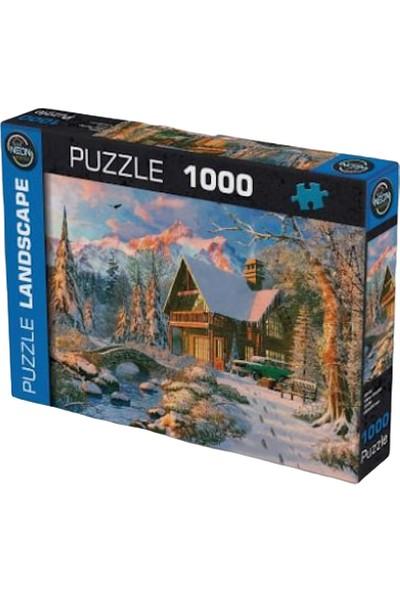 Neon 1000 Parça Mavi Puzzle