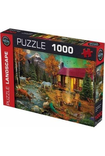 Neon 1000 Parça Kırmızı Puzzle