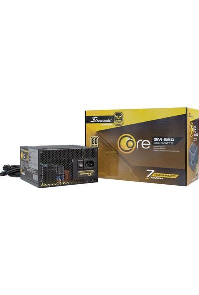 Seasonic Core GM-650 650W 80Plus Gold Yarı Modüler ATX Power Supply (SSR-650LM)