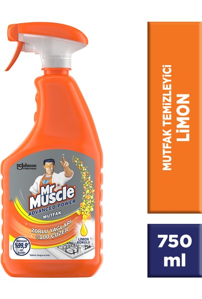 Mr Muscle Advanced Power Mutfak Limon Kokulu 750ml