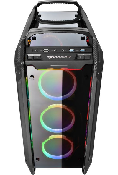 Cougar CGR-6AMTB-RGB Pazer Evo RGB USB 3.0 Transparent Panel E-ATX Full Tower Bilgisayar Kasası