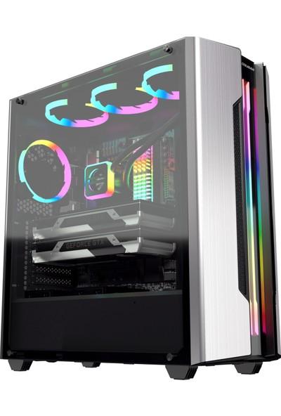 Cougar CGR-5BMBS-T Genini S-Sliver-T XTC 600W Transparent Panel E-ATX Midi Tower Kasa Bilgisayar Kasası